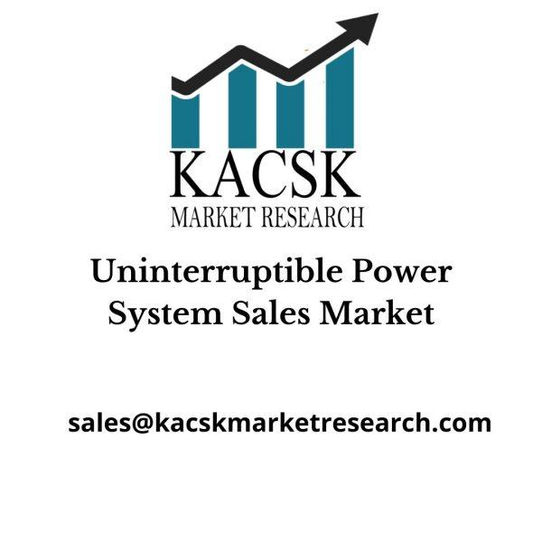 Uninterruptible Power System Sales Market