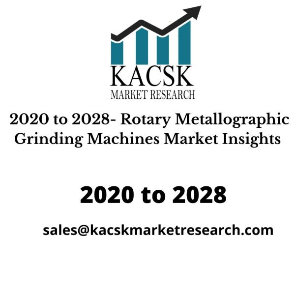 2020 to 2028- Rotary Metallographic Grinding Machines Market Insights