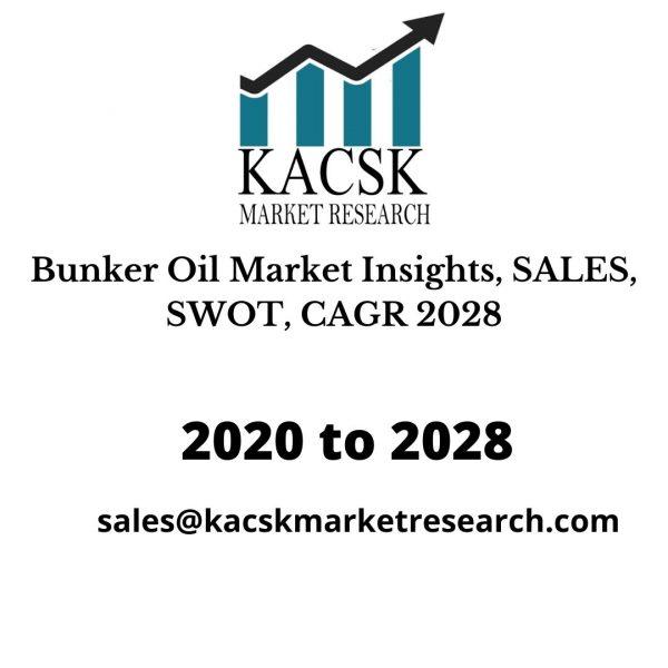 Bunker Oil Market Insights, SALES, SWOT, CAGR 2028