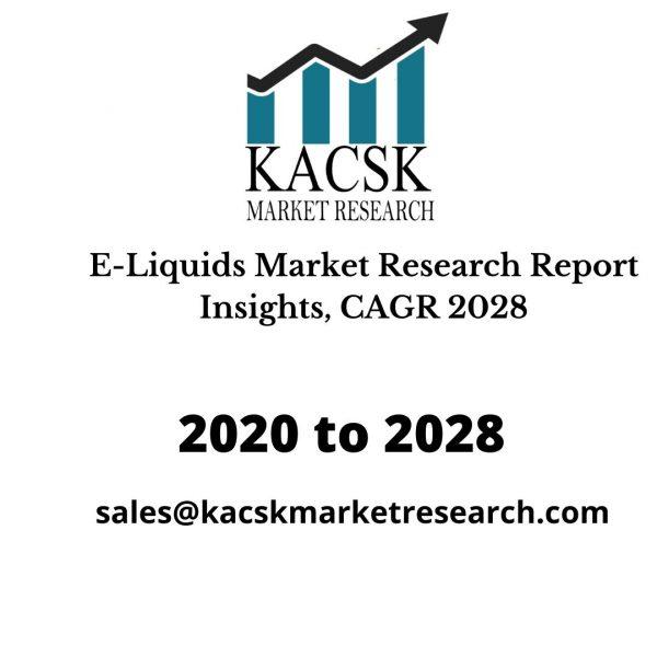 E-Liquids Market Research Report Insights, CAGR 2028
