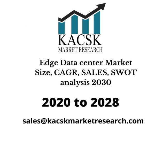 Edge Data center Market Size, CAGR, SALES, SWOT analysis 2030