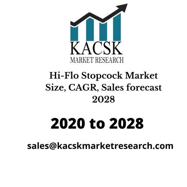 Hi-Flo Stopcock Market Size, CAGR, Sales forecast 2028