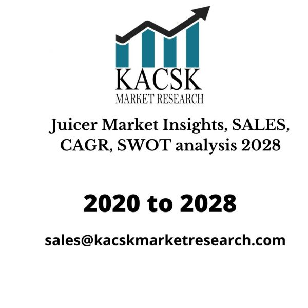 Juicer Market Insights, SALES, CAGR, SWOT analysis 2028