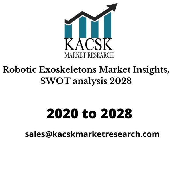 Robotic Exoskeletons Market Insights, SWOT analysis 2028