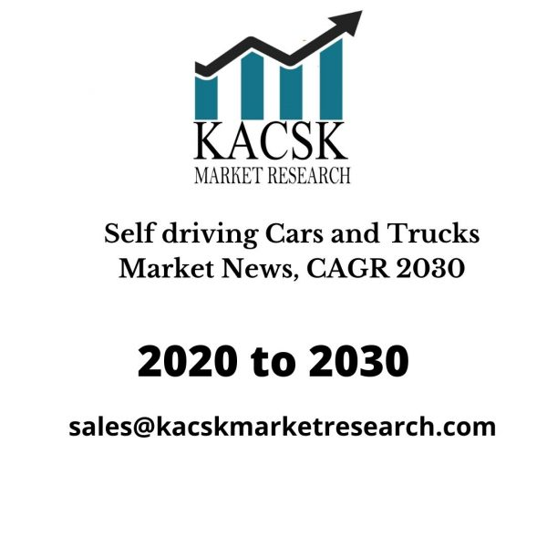 Self driving Cars and Trucks Market News, CAGR 2030