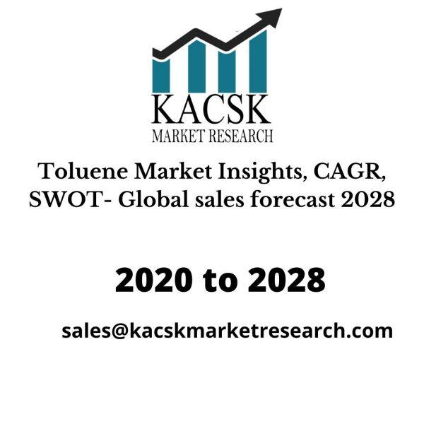 Toluene Market Insights, CAGR, SWOT- Global sales forecast 2028