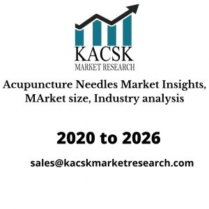 Acupuncture Needles Market Insights, MArket size, Industry analysis
