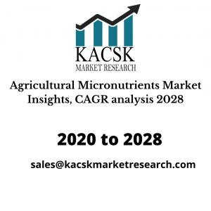 Agricultural Micronutrients Market Insights, CAGR analysis 2028