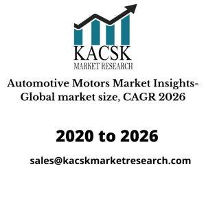 Automotive Motors Market Insights- Global market size, CAGR 2026