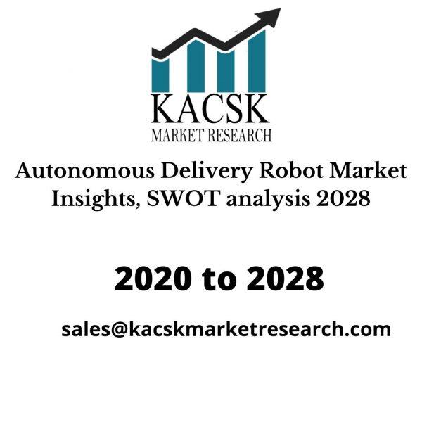 Autonomous Delivery Robot Market Insights, SWOT analysis 2028