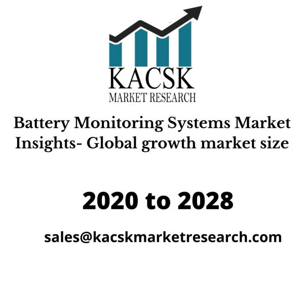 Battery Monitoring Systems Market Insights- Global growth market size
