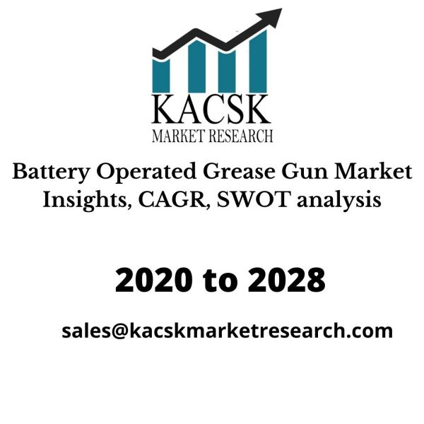 Battery Operated Grease Gun Market Insights, CAGR, SWOT analysis