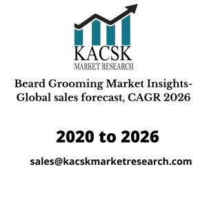 Beard Grooming Market Insights- Global sales forecast, CAGR 2026