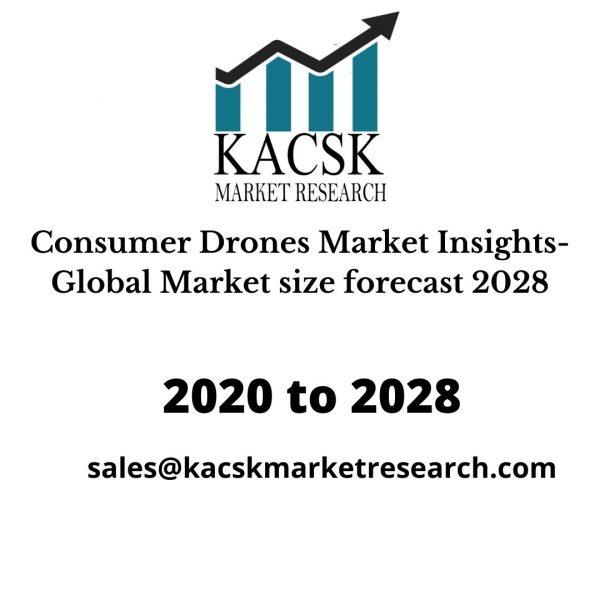 Consumer Drones Market Insights- Global Market size forecast 2028