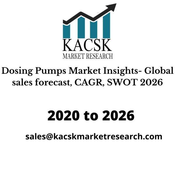 Dosing Pumps Market Insights- Global sales forecast, CAGR, SWOT 2026