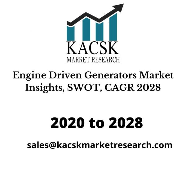 Engine Driven Generators Market Insights, SWOT, CAGR 2028