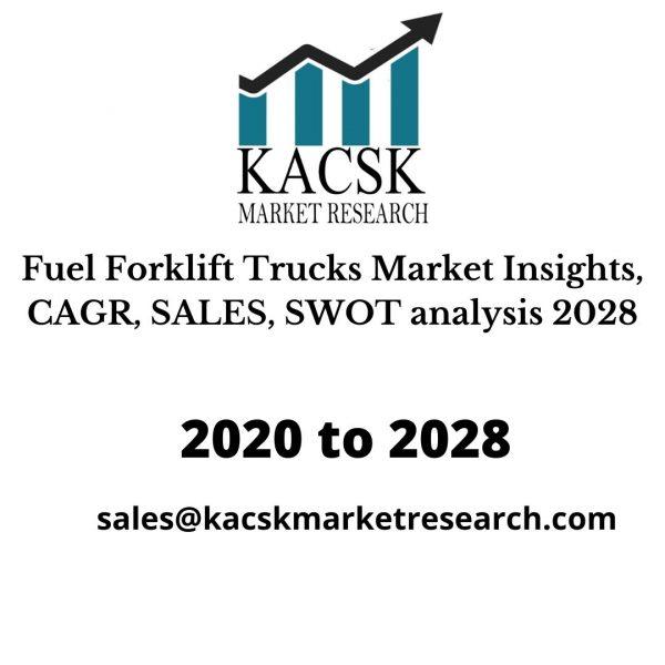 Fuel Forklift Trucks Market Insights, CAGR, SALES, SWOT analysis 2028