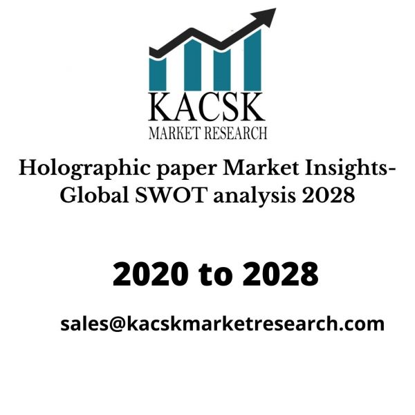 Holographic paper Market Insights- Global SWOT analysis 2028