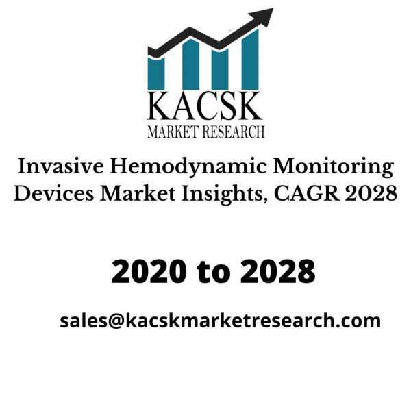 Invasive Hemodynamic Monitoring Devices Market Insights, CAGR 2028