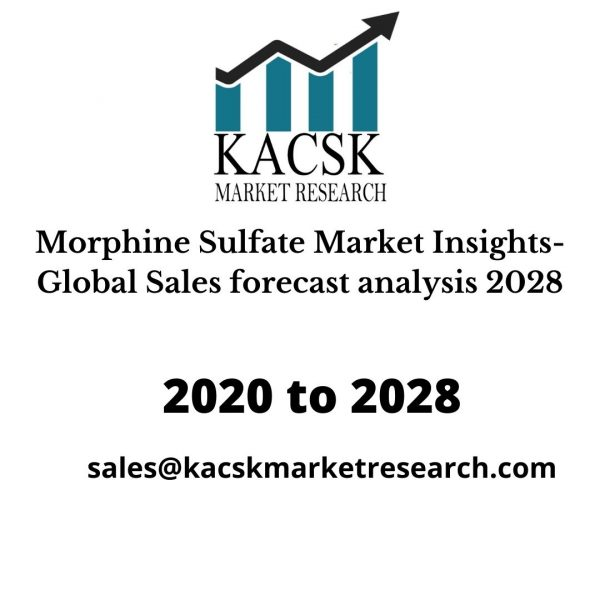 Morphine Sulfate Market Insights- Global Sales forecast analysis 2028