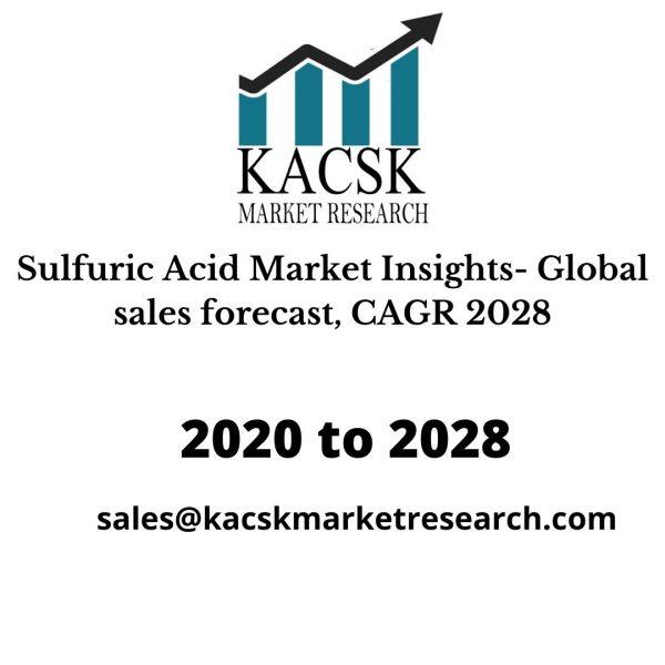 Sulfuric Acid Market Insights- Global sales forecast, CAGR 2028