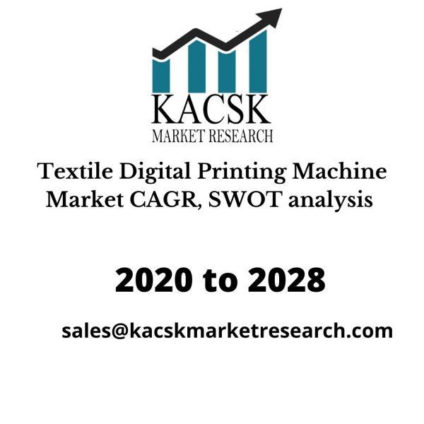 Textile Digital Printing Machine Market CAGR, SWOT analysis