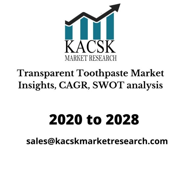 Transparent Toothpaste Market Insights, CAGR, SWOT analysis
