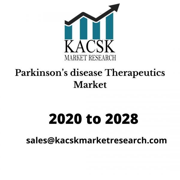 Parkinsons disease Therapeutics Market